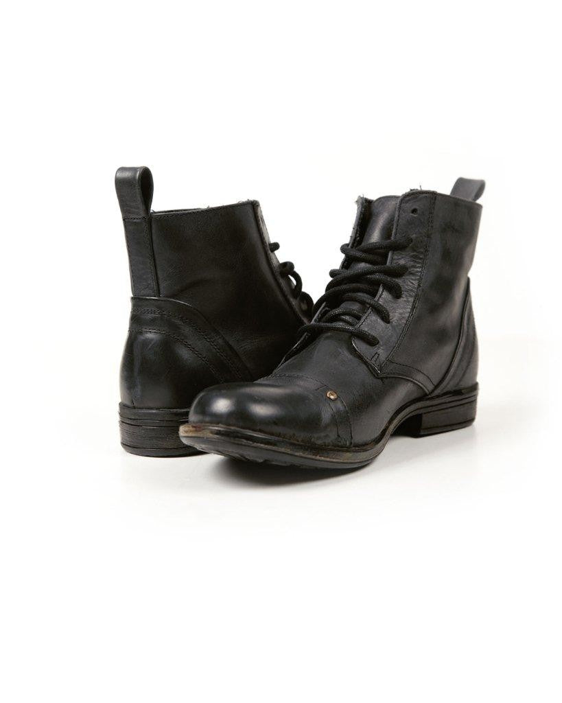 Jack Jones Black Leather Fashion Boot