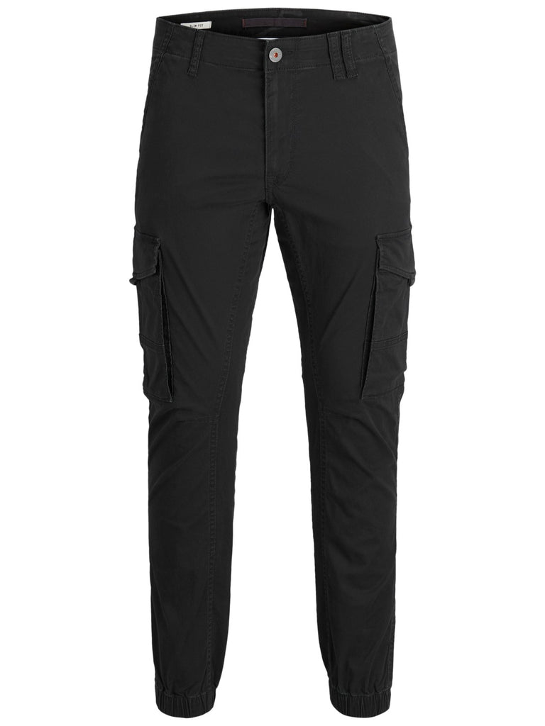 Paul Flake 542 Black Cuffed Cargo Pants