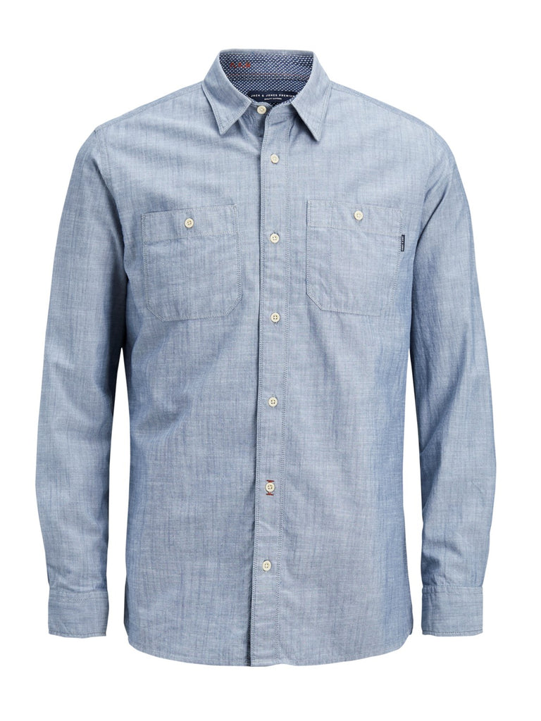 Blue Mix Worker Shirt by Jack & Jones Premium