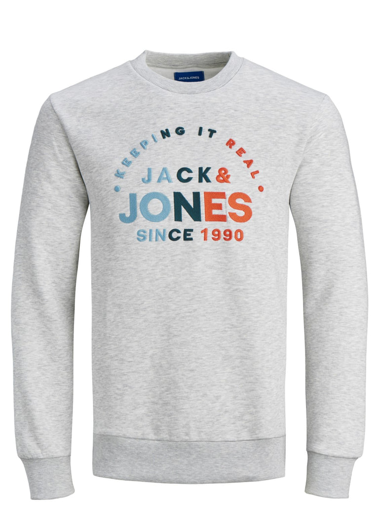 Types Crew Neck Junior Long Sleeve Grey Sweat
