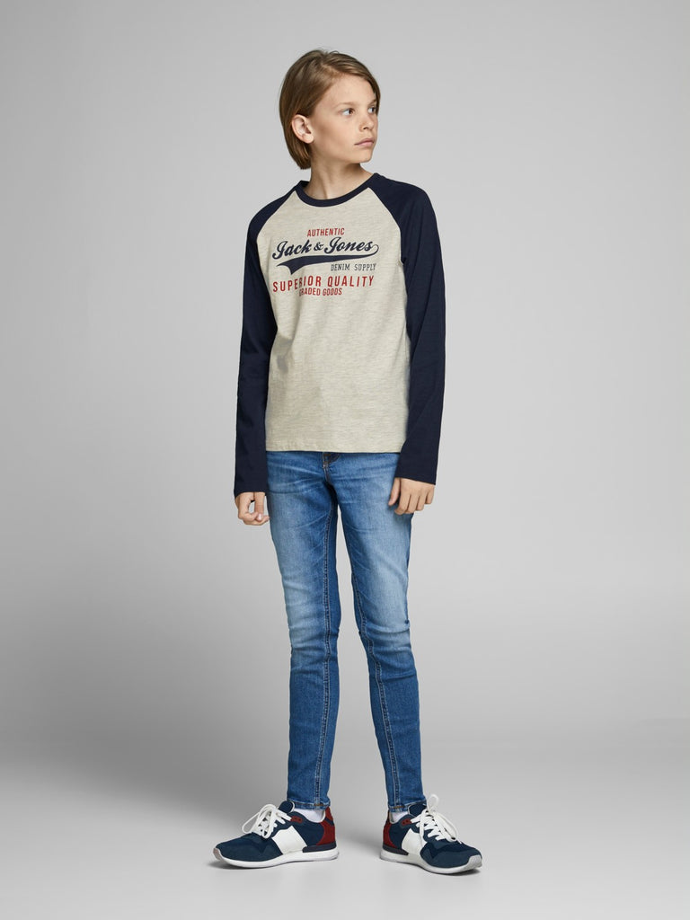 Raglan Logo Long Sleeve Top Juniors