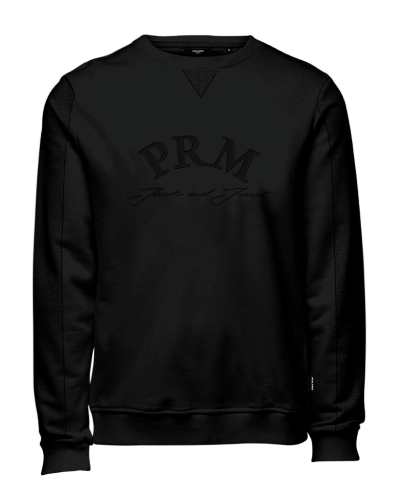 Burke Crew Neck Long Sleeve Black Sweat