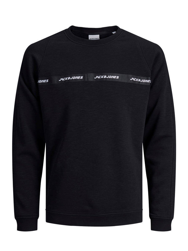 Train Black Sweat Crew Neck