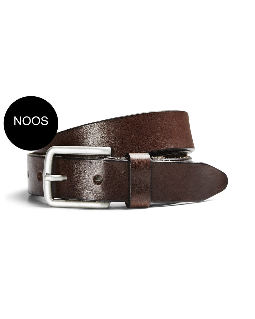 JacLee Leather Belt by Jack Jones Black Coffee