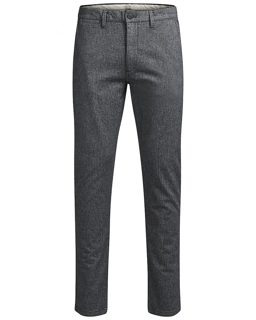 JJIMarco Charles Slim fit chinos, Light Grey Twill weave