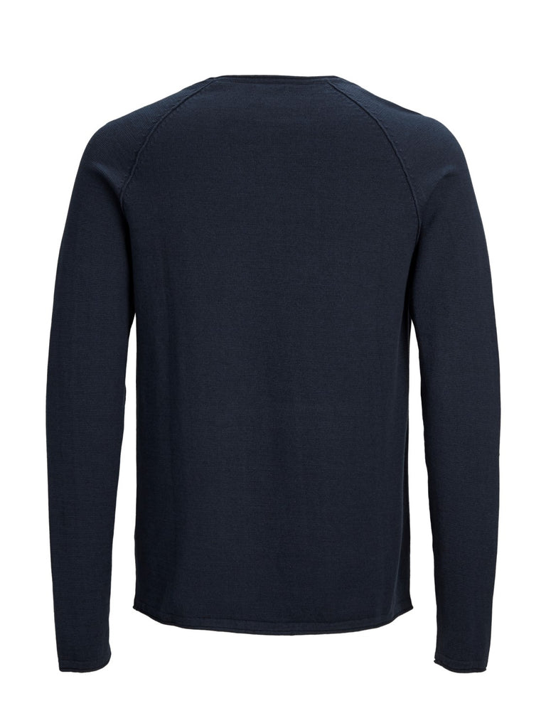 Union Crew Neck Long Sleeve Navy Knit