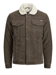 JPRJack Morel Beige Cord Jacket with Borg Collar by Jack & Jones.