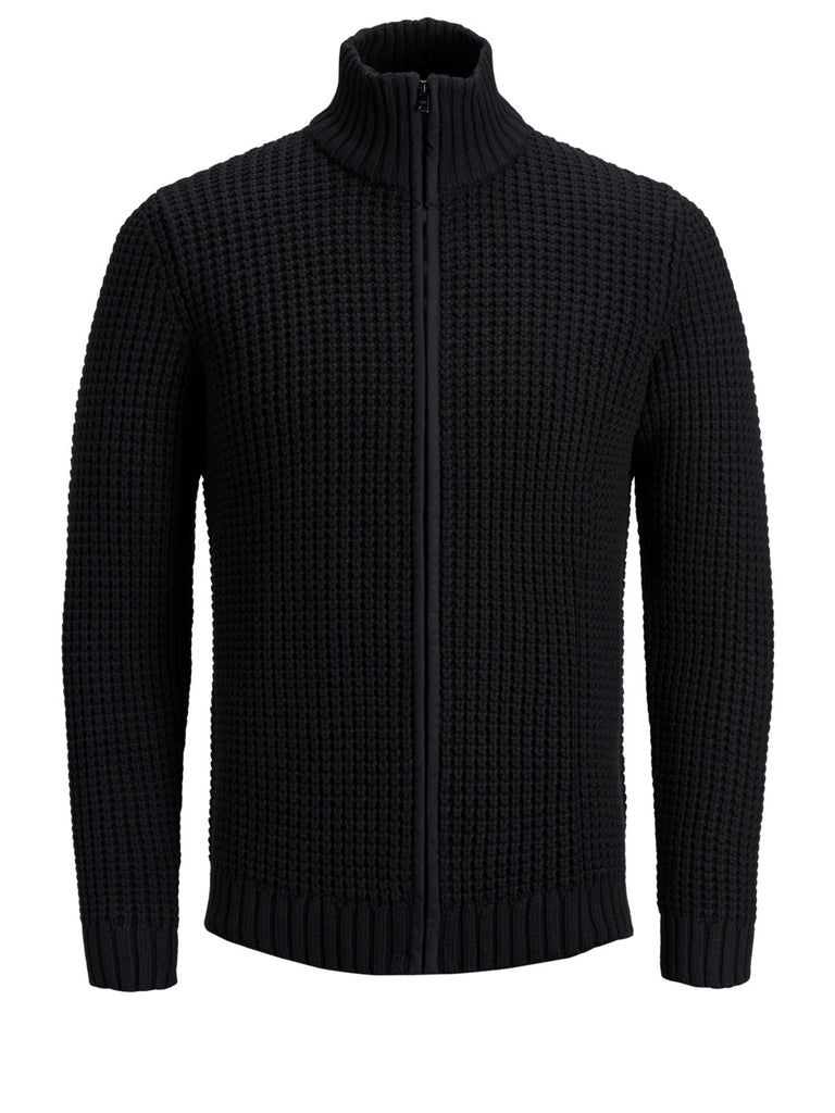 JCORichmond Knitted Black Zip jumper