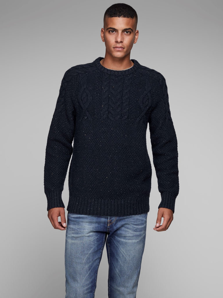 JPRRussel Knitted Crew Neck jumper Dark Navy