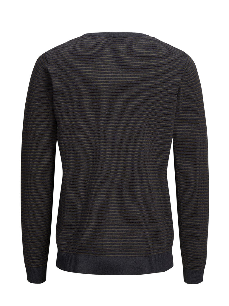JPRBoston Knitted Crew Dark Grey jumper