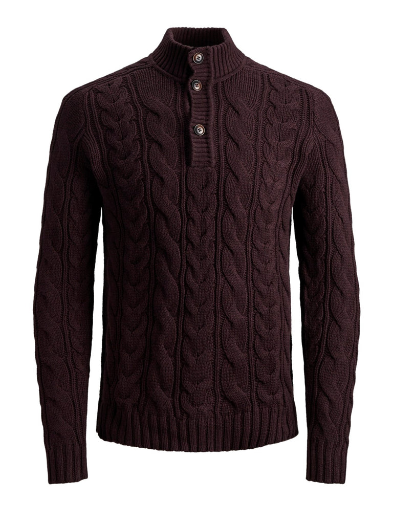 JPRPatrick Button Turtle Neck Fudge Knit by Jack & Jones