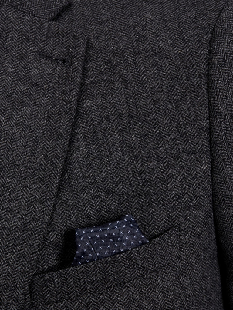 Jack Jones Premium Amsterdam Formal Dark Grey Blazer Detail