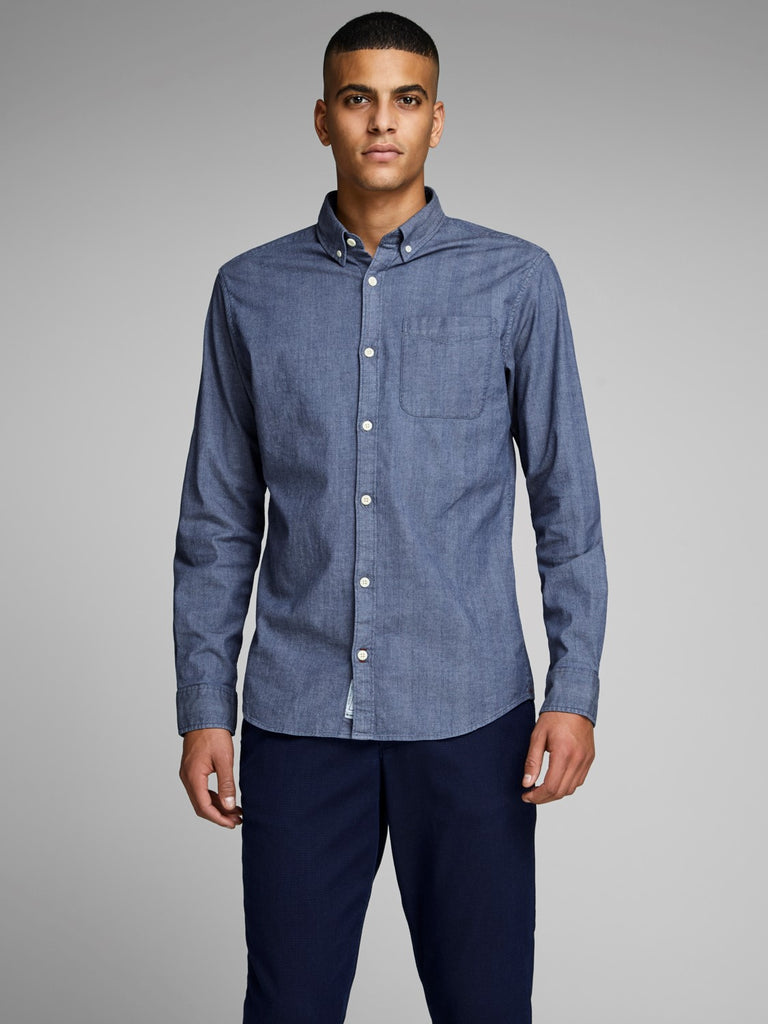 JPRMax One Pocket China Blue Shirt by Jack & Jones Premium