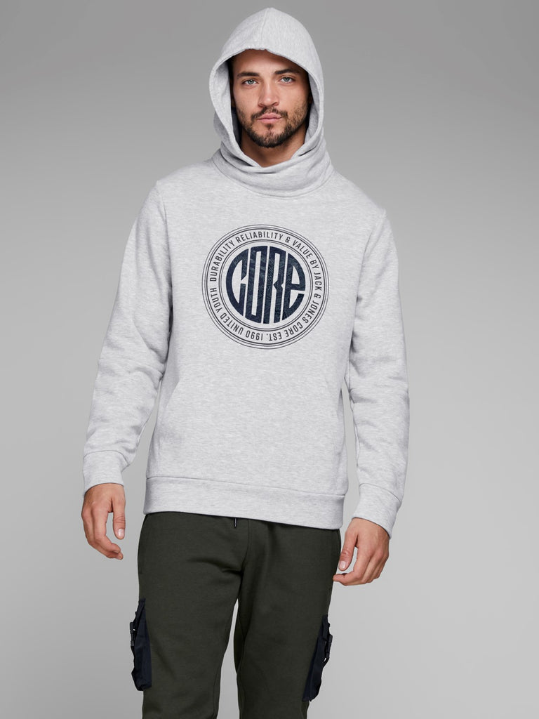 JCOCasal Over The Head Grey Hoodie By Jack & Jones