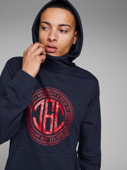 JCOCasal Over The Head Navy Hoodie By Jack & Jones