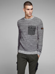 JCOCraft Crew Neck Light Grey Knit by Jack Jones Core