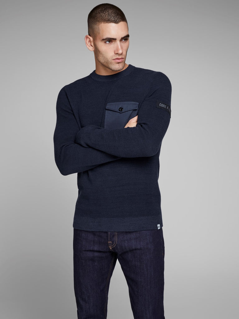 JCOCraft Crew Neck Navy Knit by Jack Jones Core