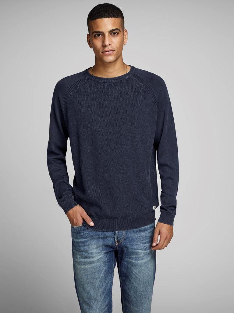 JPRKyle Crew Neck Navy Knit by Jack & Jones Premium