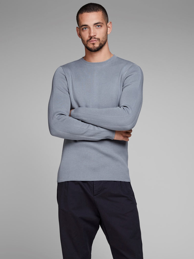 JPRDean Crew Neck Grey Knit by Jack & Jones Premium