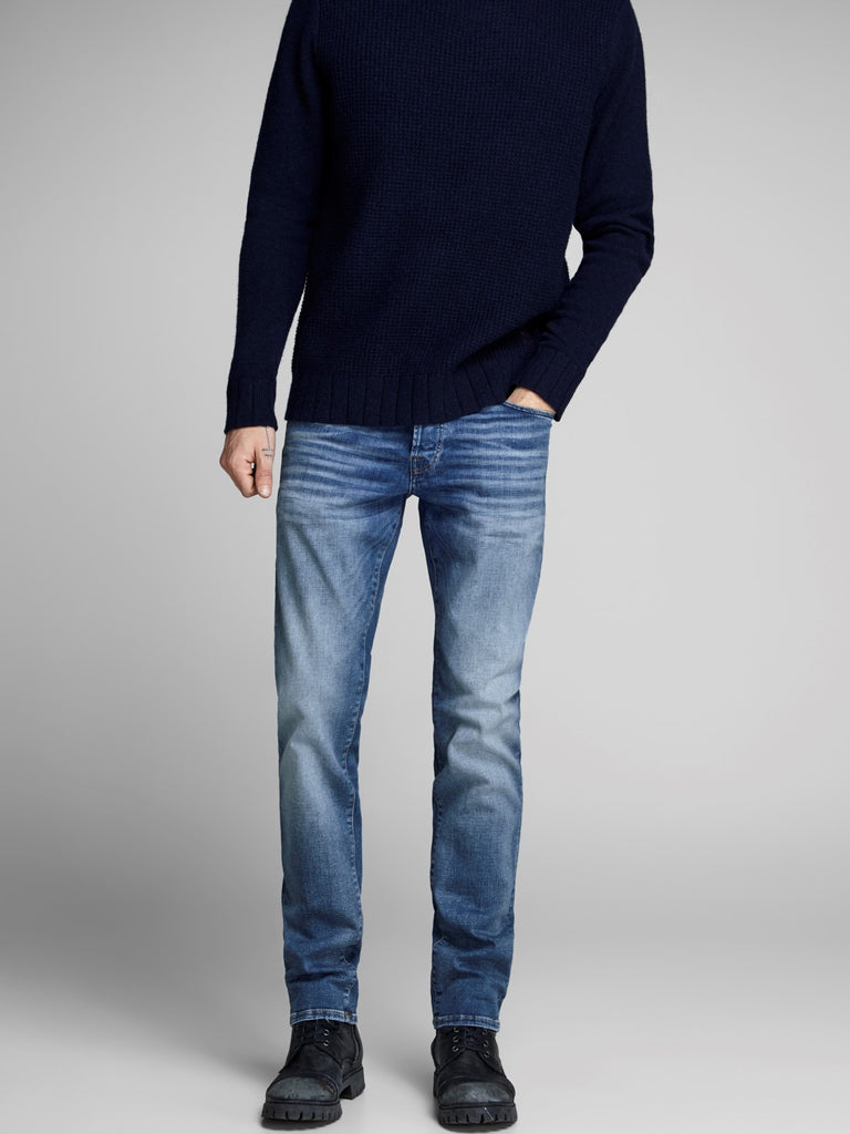 Jack & Jones Glenn Icon 357 Blue Denim Slim Fit Jean
