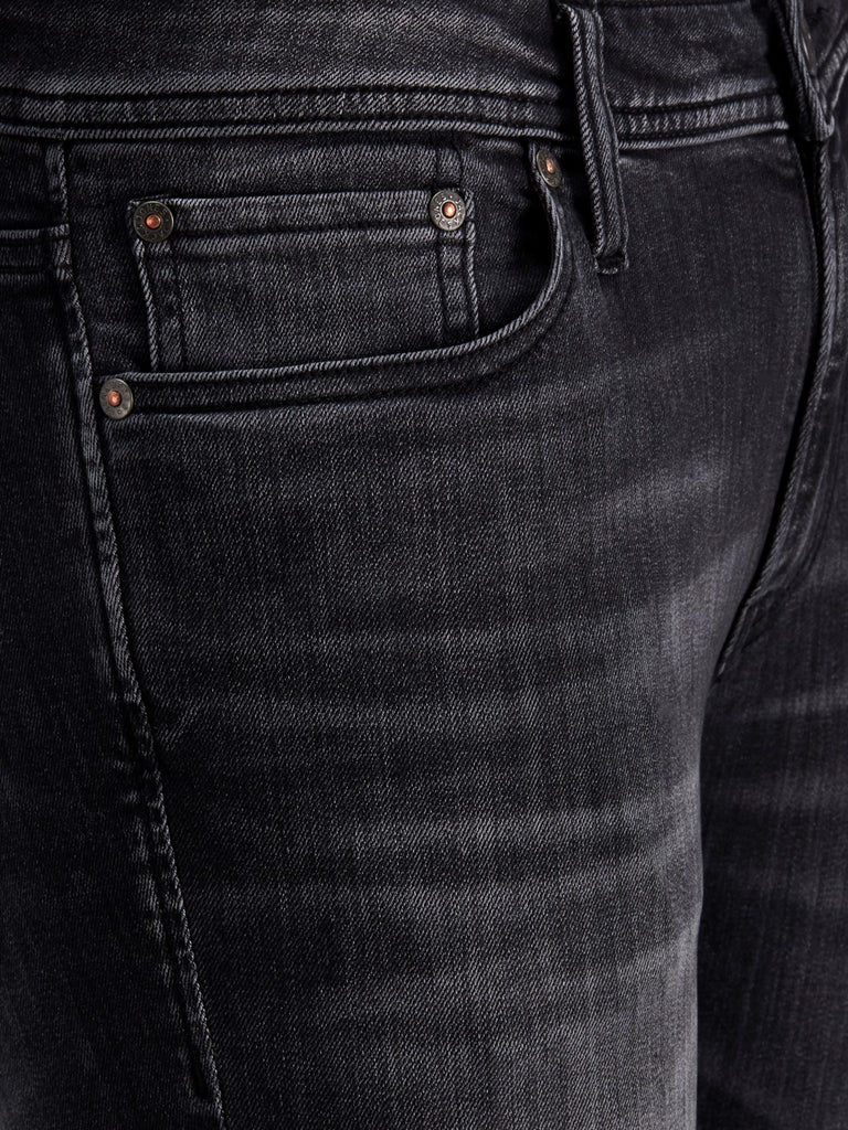 JJITom 817 Black Spray on Skinny Jeans By Jack & Jones