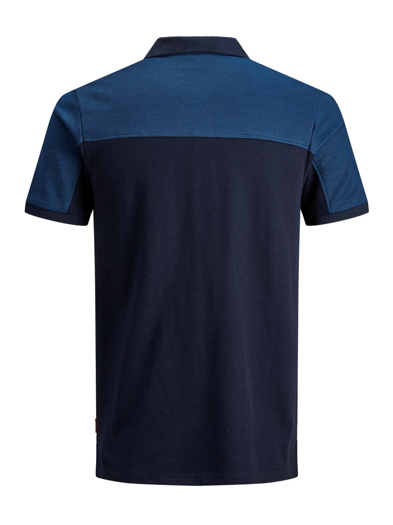 JCOHenry Short Sleeve Navy Polo Shirt by Jack & Jones