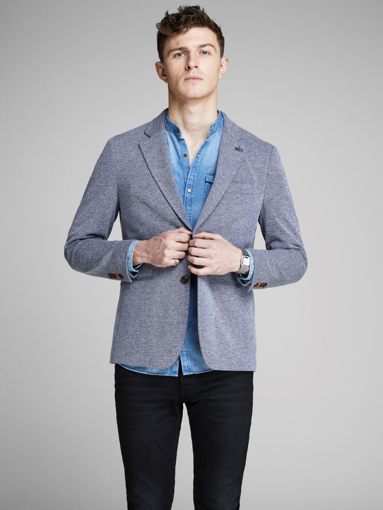 JPRSimon Chambray Blue Blazer by Jack Jones Premium