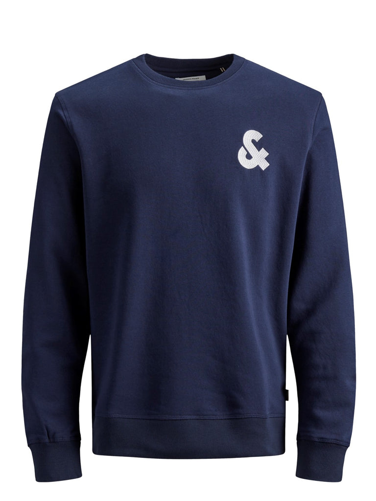 Chest Logo Crew Neck Sweat Navy Blazer