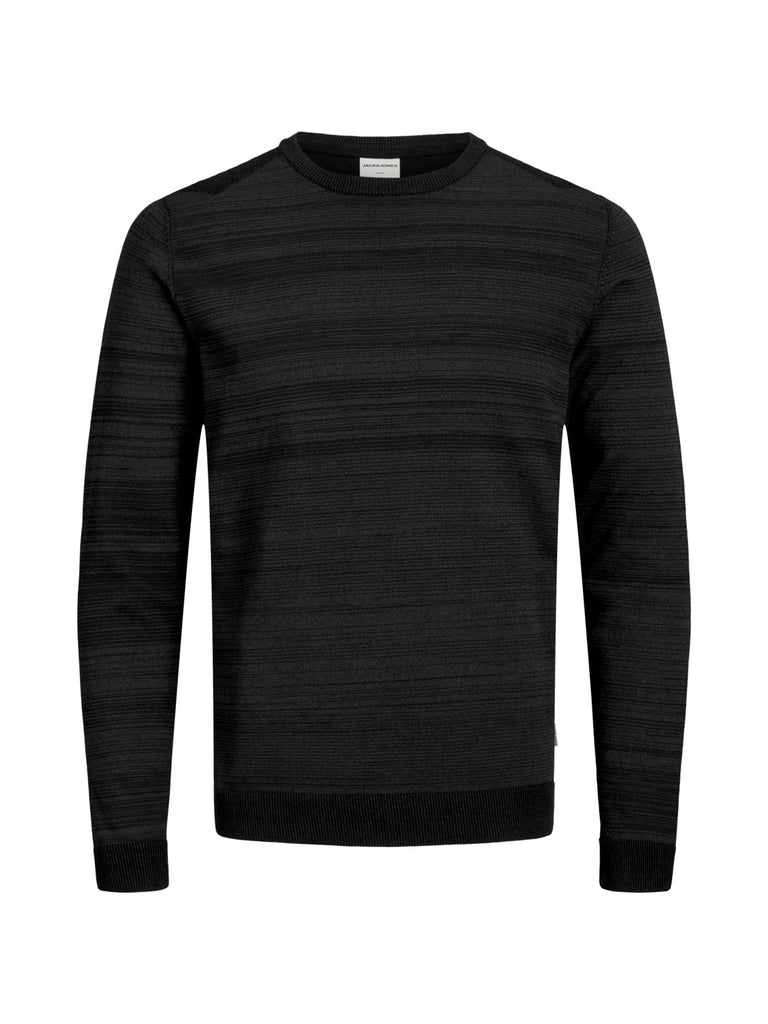 JCOElm Crew Neck Black Twisted Knit