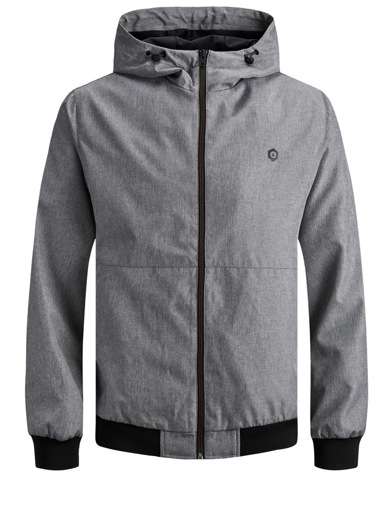 JCOAlu Hooded bomber light grey jacket