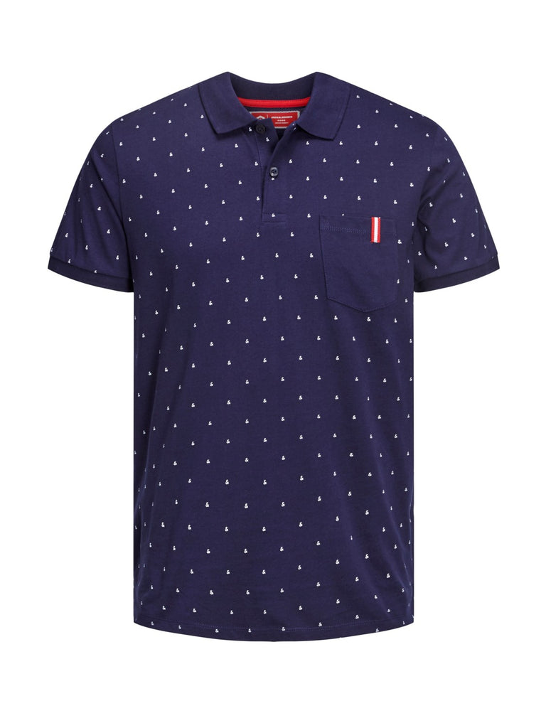 JCOAnd Short-sleeved Polo Shirt Maritime Blue