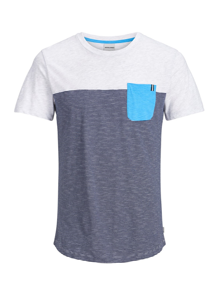 JCOSect Short-sleeved White Melange T-shirt by JACK & JONES