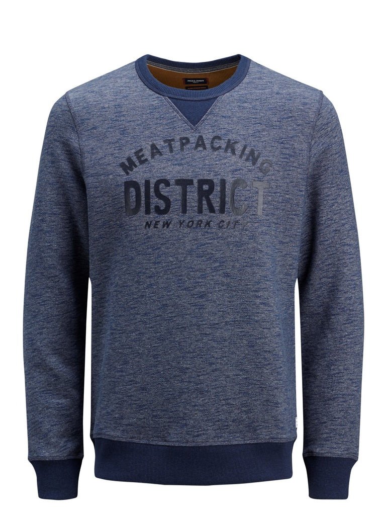 Jack & Jones Premium Arwin Crew Neck Navy Sweat