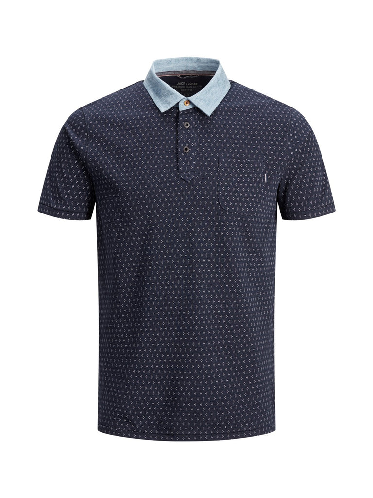 Darren Polo Short-sleeved polo shirt Navy Print
