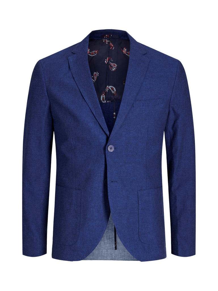 JPRJulian Linen Mix Slim Fit Navy Blazer.