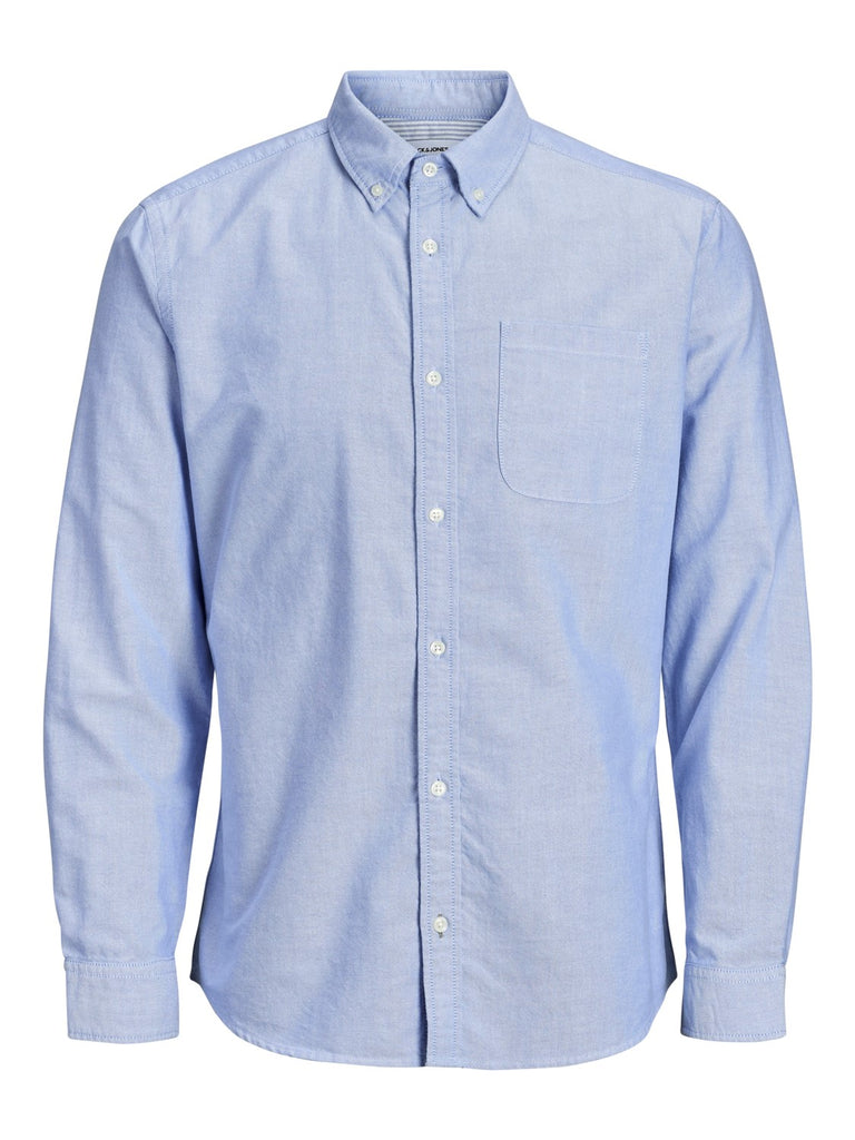 Oxford Blue Long-sleeved shirt by JACK & JONES