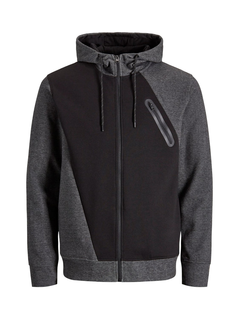 Gloria Zip up Black Hoodie