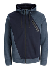 Gloria Zip up China Blue Hoodie