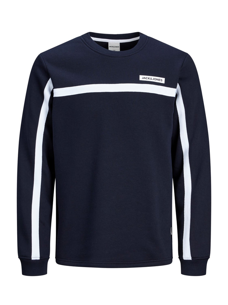 Super Cell Junior Long Sleeve Navy Crew Neck Sweat