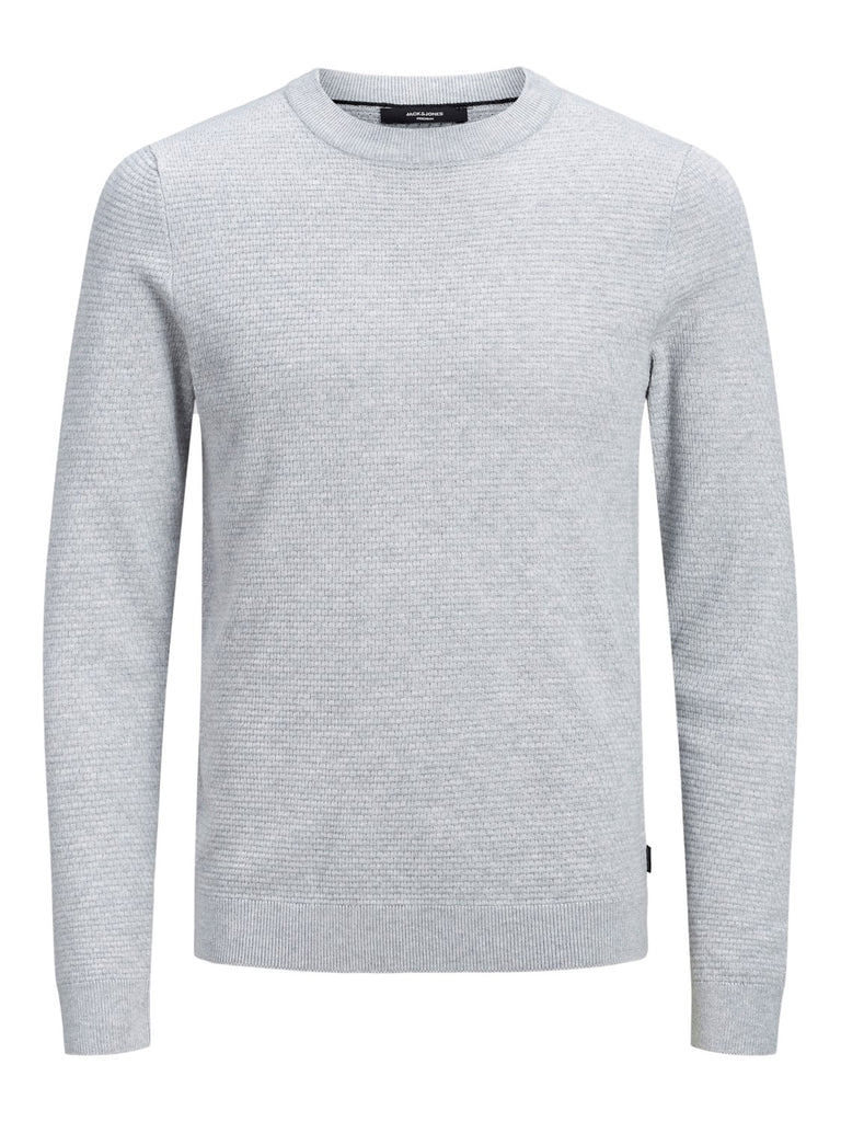 Grey JPRFast Structure Crew Neck Knit