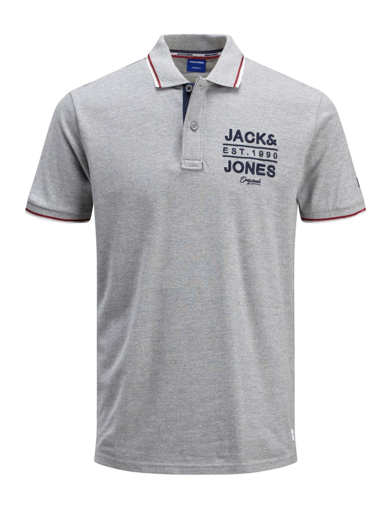 Short Sleeve Upton Light Grey Polo