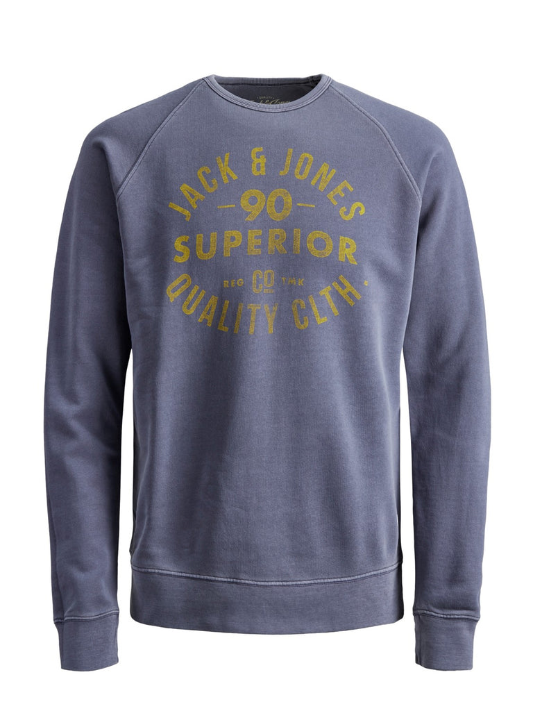 Washed Navy Sweat Junior Crew Neck