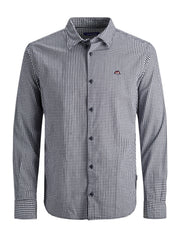 JORIvan Slim Fit Check Cloud Dancer Shirt.