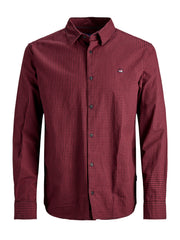 JORIvan Slim Fit Check Brick Red Shirt.
