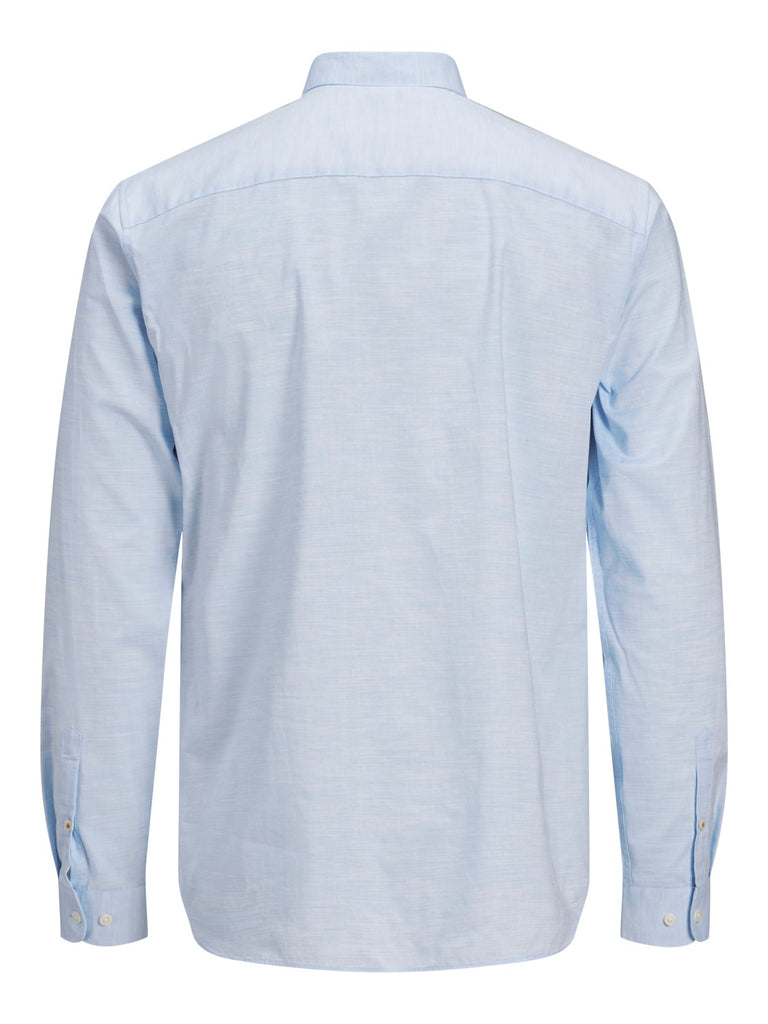 Blaspring Button Down Long Sleeve Cashmere Blue Shirt