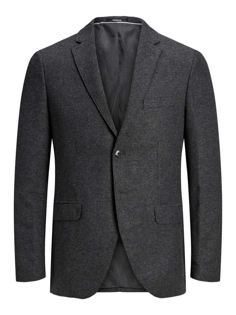 Colton Hawk Dark Grey Herringbone Tapered Fit Blazer