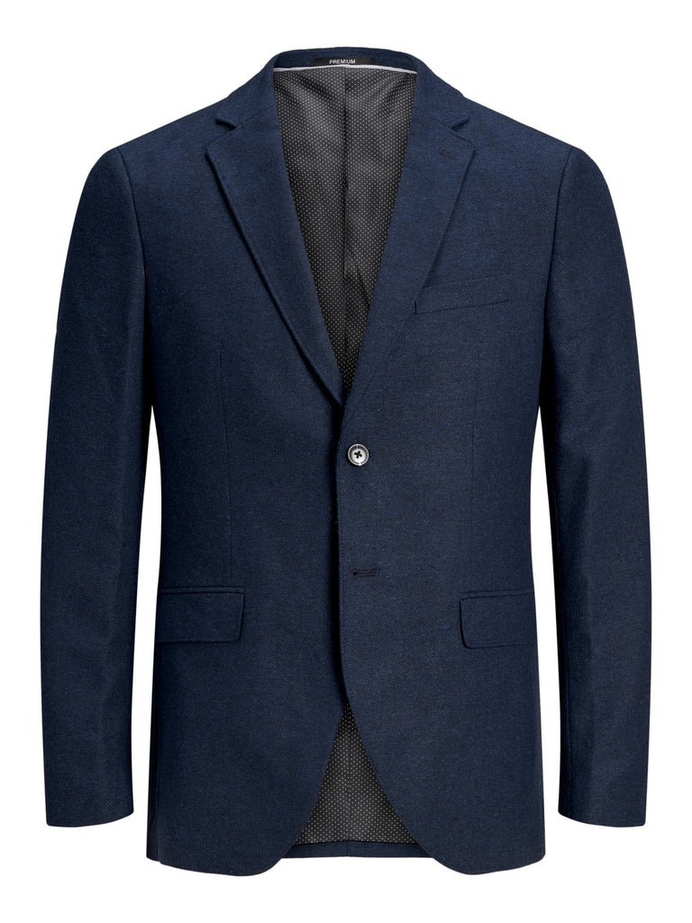 Colton Hawk Navy Herringbone Tapered Fit Blazer