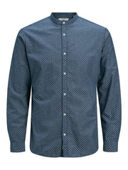 JPRBLASummer Band Navy Print Long Sleeve Shirt
