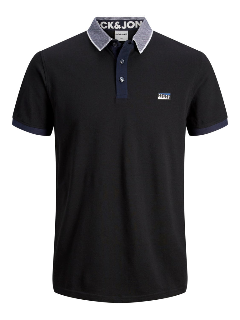 Charming Short Sleeve Black Polo Shirt