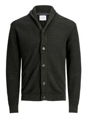 Vince Knit Shawl Cardigan forest green